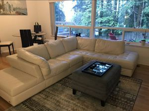 Italian Leather Sectional Sofa / Couch -Natuzzi Editions for Sale in Lynnwood, WA