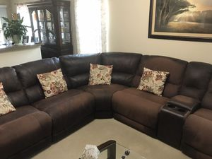 Leather Reclining Couch Sectional for Sale in Fort Worth, TX
