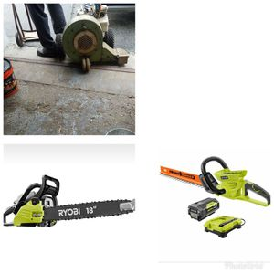 Battery hedge trimmer chainsaw push leaf blower for Sale in Woonsocket, RI