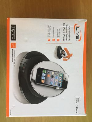 ilive app enhanced speaker with rotating dock for ipod and iPhone for Sale in Apex, NC