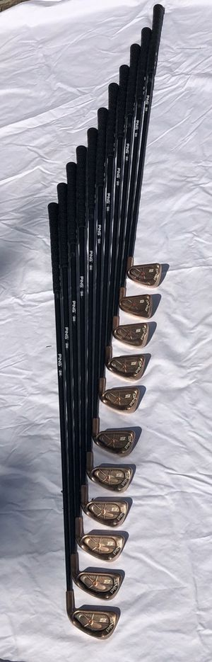 Rare Copper Ping Golf Clubs w/ Ping Bag for Sale in Edgewater, MD