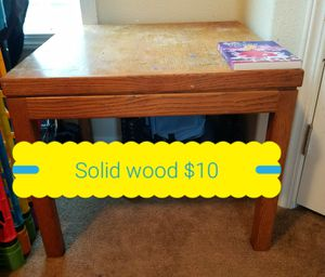 Solid oak end table for Sale in Anchorage, AK