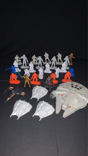 Star Wars Command Army Men lot of 24 figures with x5 ships for Sale in Gilbert, AZ