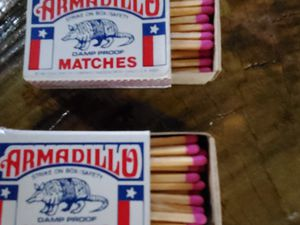 Matches from the famous Armadillo in Austin, Texas for Sale in Lewisville, TX