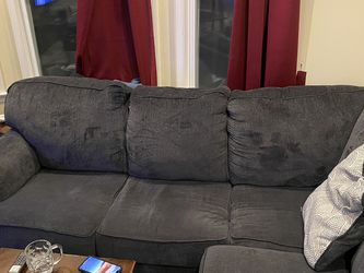 "Calvin Slate 3 Piece 137"" Sectional with Right Arm Facing Chaise for Sale in San Francisco,  CA"