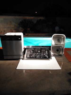 Whirlpool, dishwasher. Broan Hood vent cooktop sink . With garbage disposal. for Sale in La Puente, CA