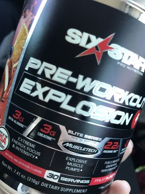 6 star pre-workout explosion for Sale in Phoenix, AZ