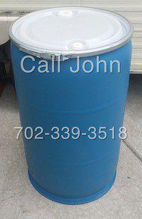 Water storage Heavy duty 55 Gallon Food Grade Removable Top Barrels for Sale in Las Vegas, NV