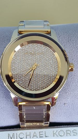 New Authentic Michael Kors Women's Goldtone Bling Face Watch 🎁🎁🎁 for Sale in Pico Rivera, CA