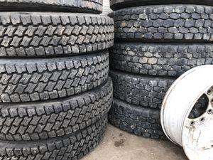Semi truck tires ..... llantas de trailer for Sale in Denver, CO