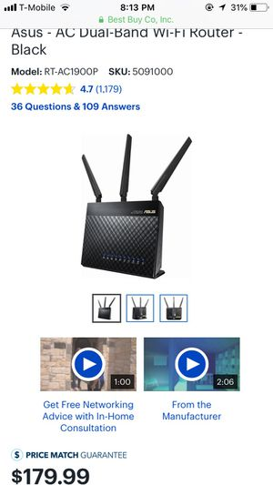 Asus 1900 WiFi router. Best price for Sale in Austin, TX