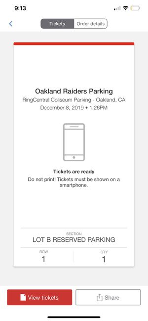 Raider Parking pass for Sale in Fresno, CA