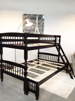 Wood Twin over Full Bunk Beds. Mattress Sold Separately. for Sale in Atlanta, GA