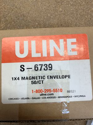"""Magnetic tags for warehouse shelves 1"""" X 4"""" for Sale in Tustin, CA"""