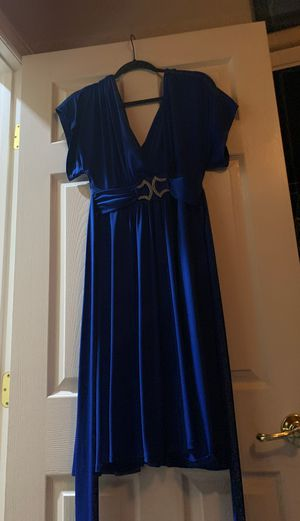 Blue polyester dress size large for Sale in Las Vegas, NV