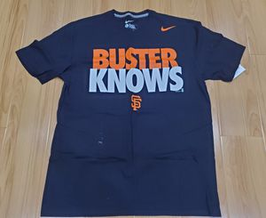 "Vintage VTG Nike San Francisco SF Giants ""Buster Knows"" Tee Shirt size Large Tee supreme kaws kith staple for Sale in Rosemead, CA"