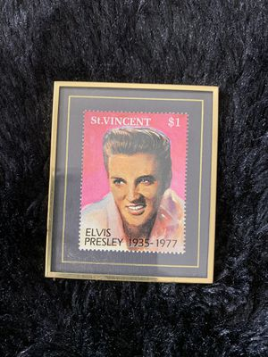 Mini 1992 Hanford Heirlooms Inc. Elvis Presley Picture of 1935-1977 Stamp # 1537 of 5000 for Sale in Fishers, IN