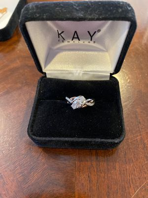 Diamond Engagement Ring 5/8ct tw Round cut 14K two tone gold for Sale in Scranton, PA