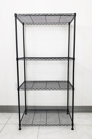 """New in box $35 Small Metal 4-Shelf Shelving Storage Unit Wire Organizer Rack Adjustable Height 24x14x48"""" for Sale in Pico Rivera, CA"""
