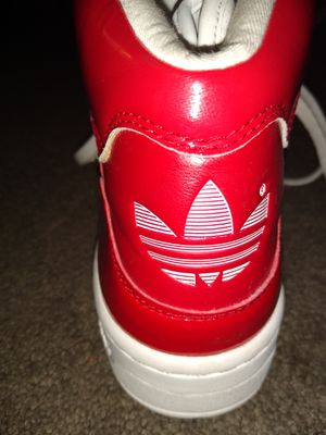 Adidas Red and White high tops size 7 for Sale in Huntington Beach, CA