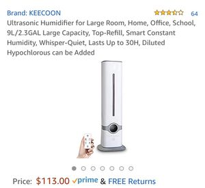 Smart Humidifier 9L/2.3 Gal for Sale in Los Angeles, CA