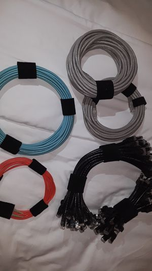 Fiber optic cable and patch cables for Sale in Pompano Beach, FL
