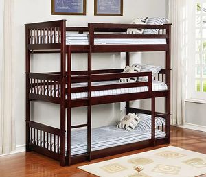 New Twin Twin Twin Bunk Bed for Sale in Austin, TX