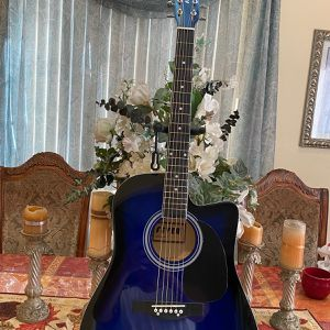 blue fever acoustic guitar with metal strings for Sale in South Gate, CA
