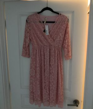 Pink Blush Lace maternity dress for Sale in Fort Lauderdale, FL