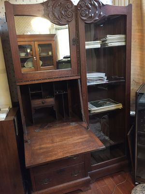 Antique secretary desk and cabinet for Sale in Seattle, WA