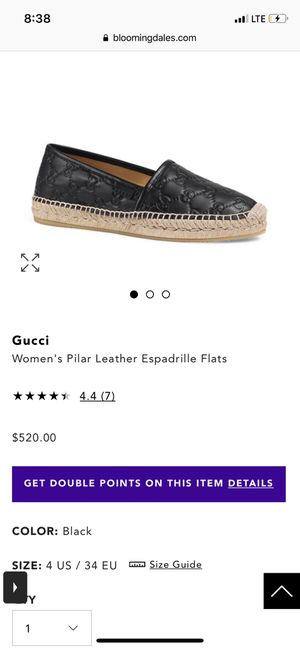 Black Gucci leather w/ signature espadrilles for Sale in Novato, CA