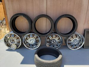 "Rim's 20"" with tires for Sale in Las Vegas, NV"