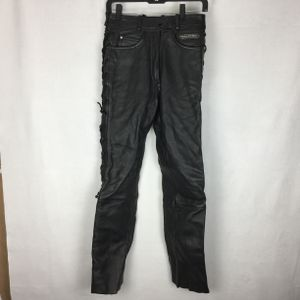 Vtg HARLEY DAVIDSON Black Lace-Up Heavy Leather Riding Pants Womens - Size 10 for Sale in Holiday, FL