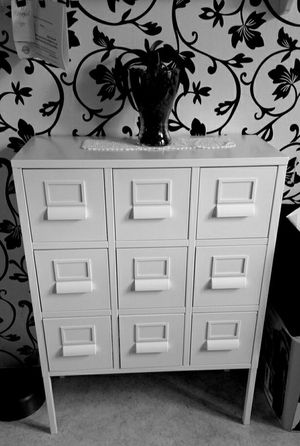 Beautiful White PETITE Metal 9 Drawers Dresser Entry Chest Storage Organizer Unit Stand Buffet Console Table Cabinet for Sale in Monterey Park, CA