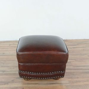 Brown Leather Ottoman (1041781) for Sale in South San Francisco, CA