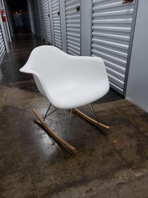 Eames style mid-century modern white bucket rocking chair for Sale in Bellevue, TN