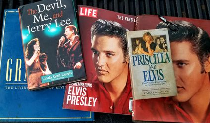 5 Lot ELVIS PRESLEY BOOKS ROCK AND ROLL LP for Sale in Waco,  TX