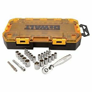 DEWALT Drive Socket Set, SAE/Metric, 1/4-Inch Drive, 25-Piece for Sale in Issaquah, WA