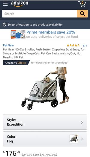Pet Gear Expedition No-Zip Dog & Cat Stroller for Sale in Monroe, OH
