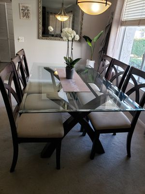 Espresso Glass Dining Table for Sale in Westminster, CA