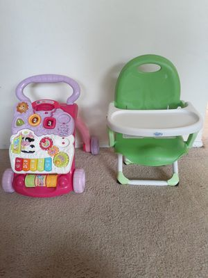 KIDS BOOSTER SEAT AND WALKER for Sale in Redwood City, CA