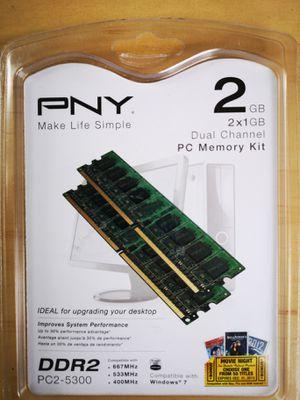 PNY DDR2 2 x 1 Gigabyte sticks. Brand new. for Sale in Hillsboro, OR