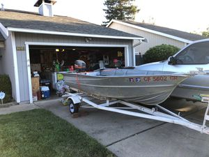 12 foot Valco aluminum boat plus trailer and motor for Sale in West Sacramento, CA