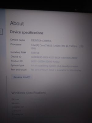 Hp 3168ngw 250g i5 8gb of ram for Sale in Davis, CA