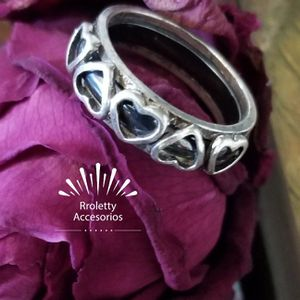 Sterling Silver 925 Ring With Black Hearts. for Sale in Downey, CA