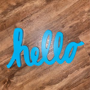 """hello"" sign for Sale in Los Angeles, CA"