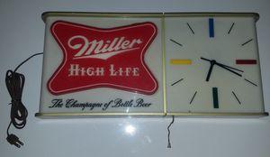 Miller High Life Antique Clock (1950s) for Sale in Glenside, PA