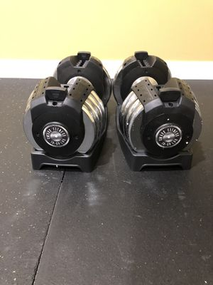 New/Never Used- Two Adjustable Dumbbells (10 - 50 lbs.) by XMark for Sale in Clarksburg, MD