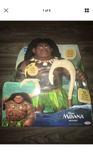 "Brand New RARE Disney Moana Movie Mega Maui 16"" Talking Doll Action Figure Toy Singing 12 Movie Phrases for Sale in Mesa, AZ"