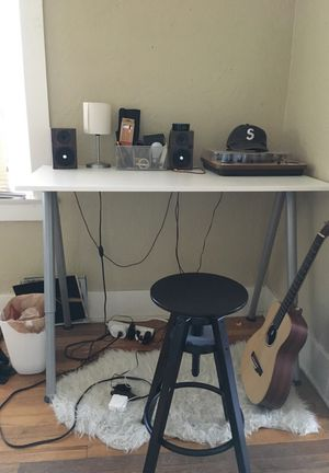 Ikea desk AND STOOL, need gone ASAP for Sale in Denver, CO